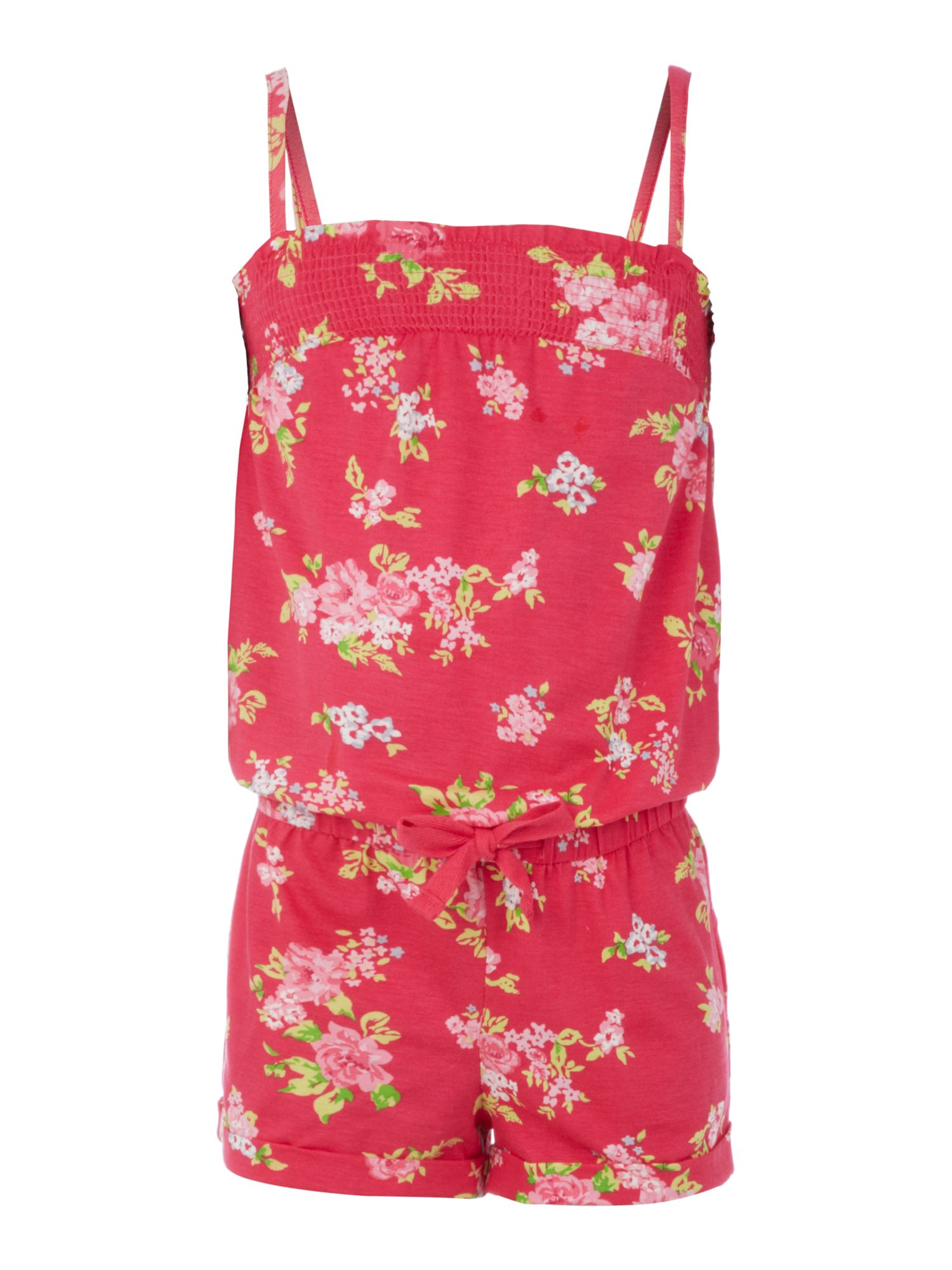 Girls hibiscus print playsuit