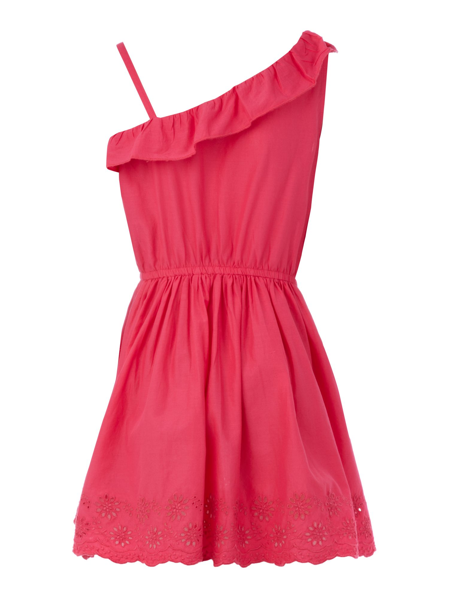 Girls asymetrical dress with frill