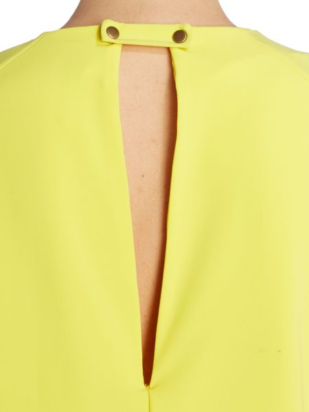 Y.A.S. 3/4 sleeve layered shift dress