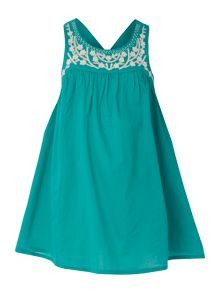 Girls embroidered swing dress