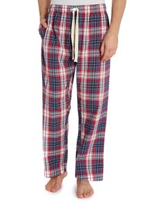 Burgundy Check Poplin Pyjama Pants
