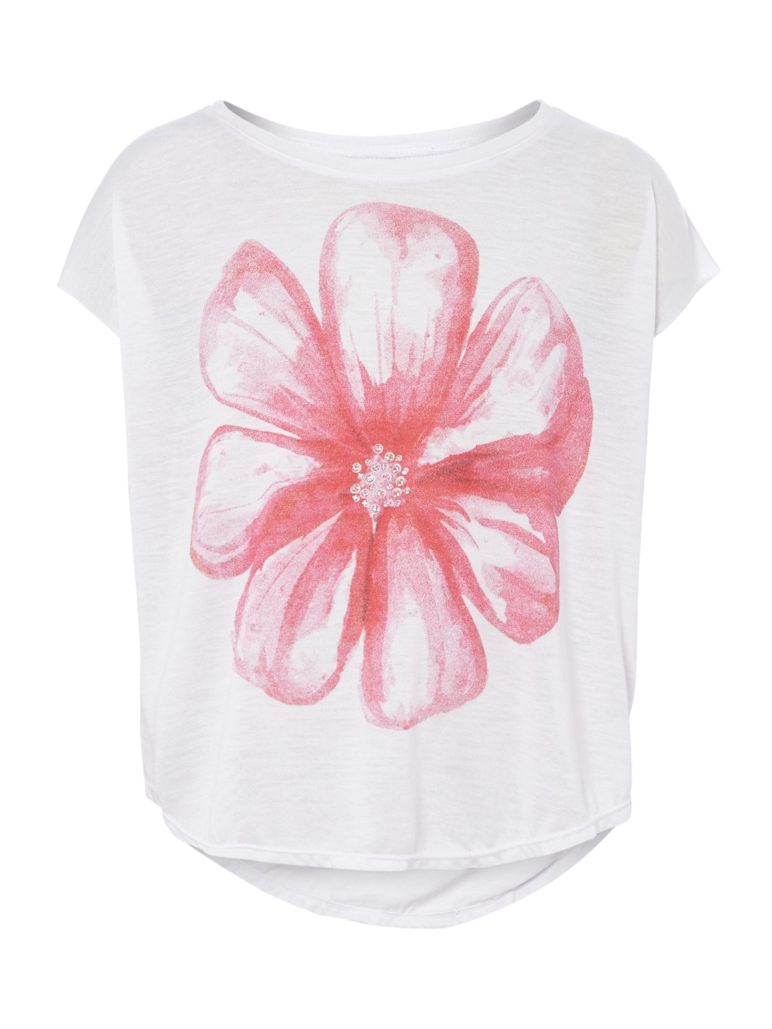 Girls glitter flower t-shirt