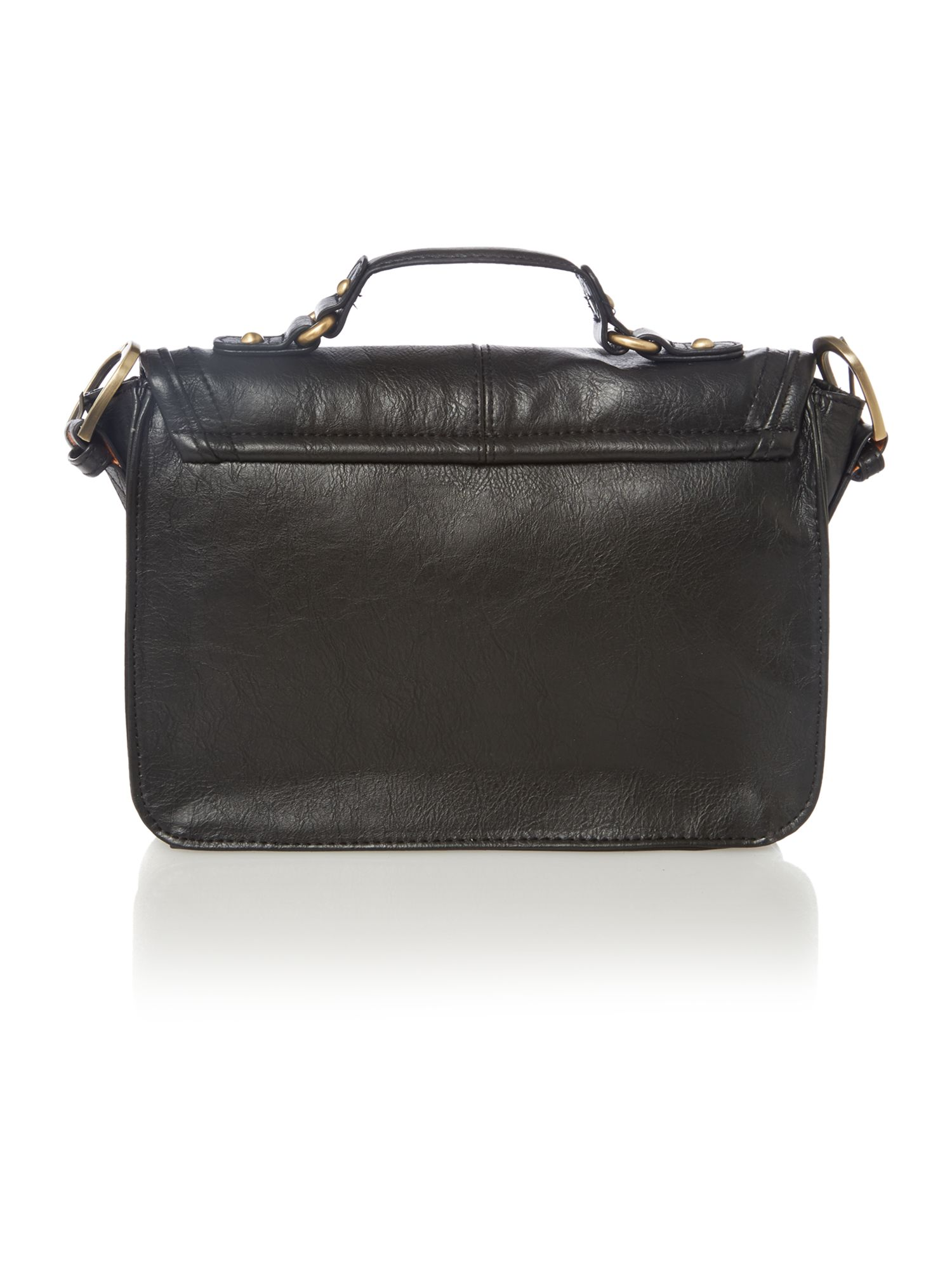 Georgie black mini satchel bag