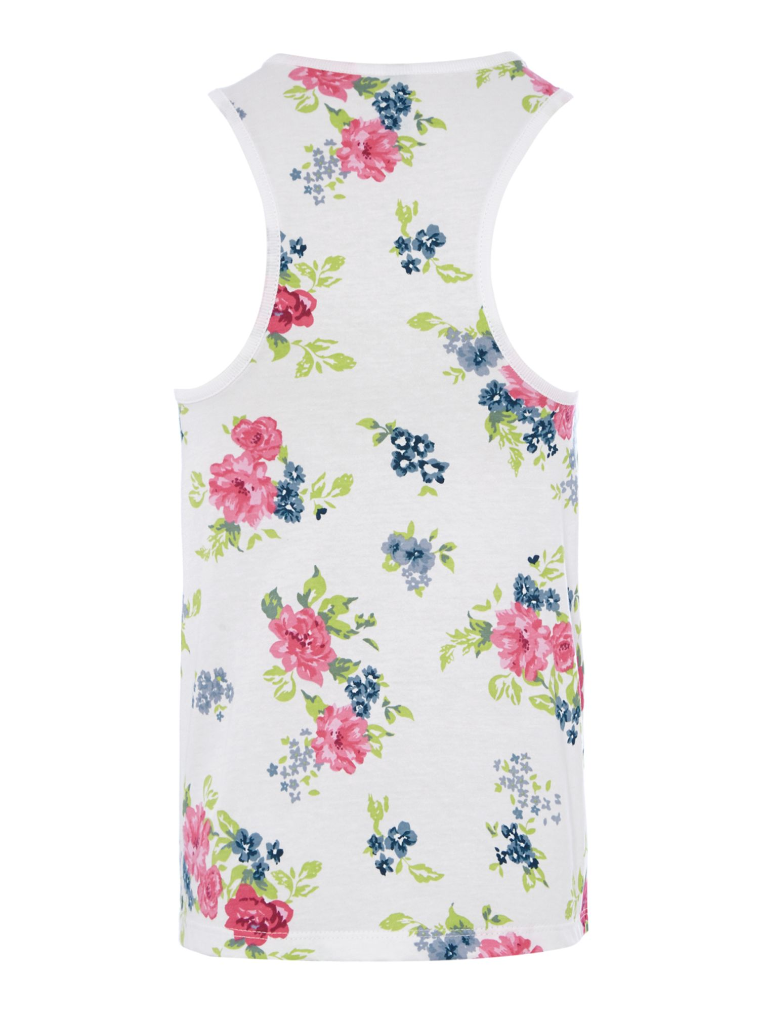 Girls floral bow vest