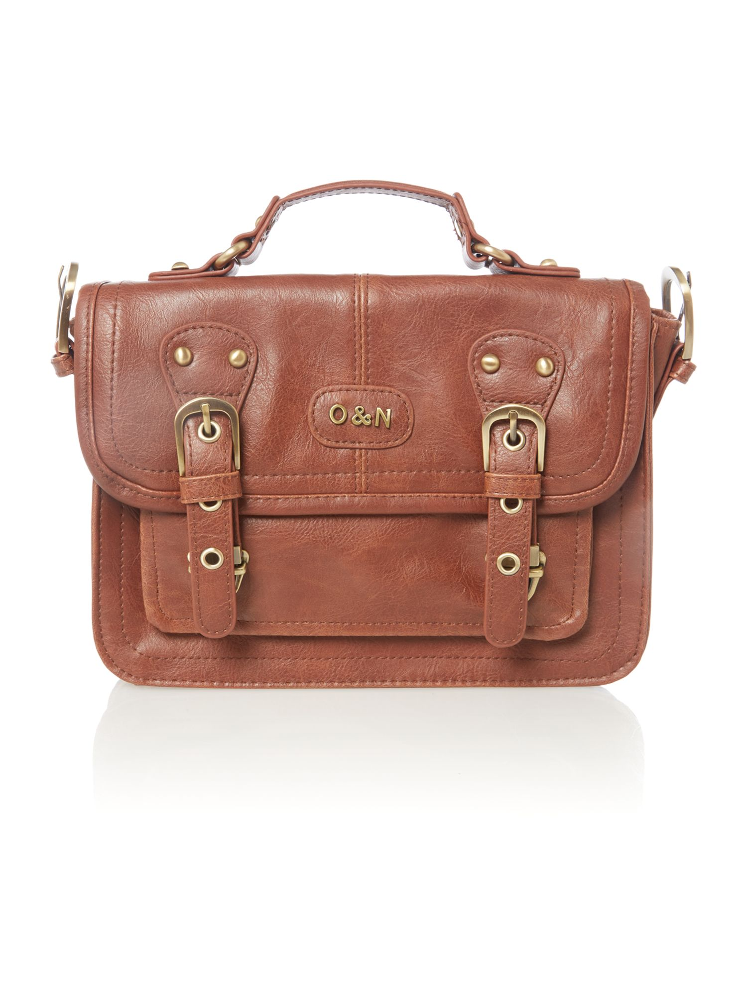 Georgie tan mini satchel bag