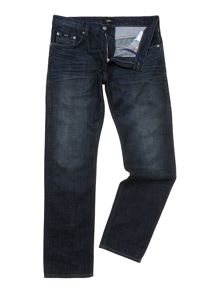Maine soft vintage wash straight leg jean
