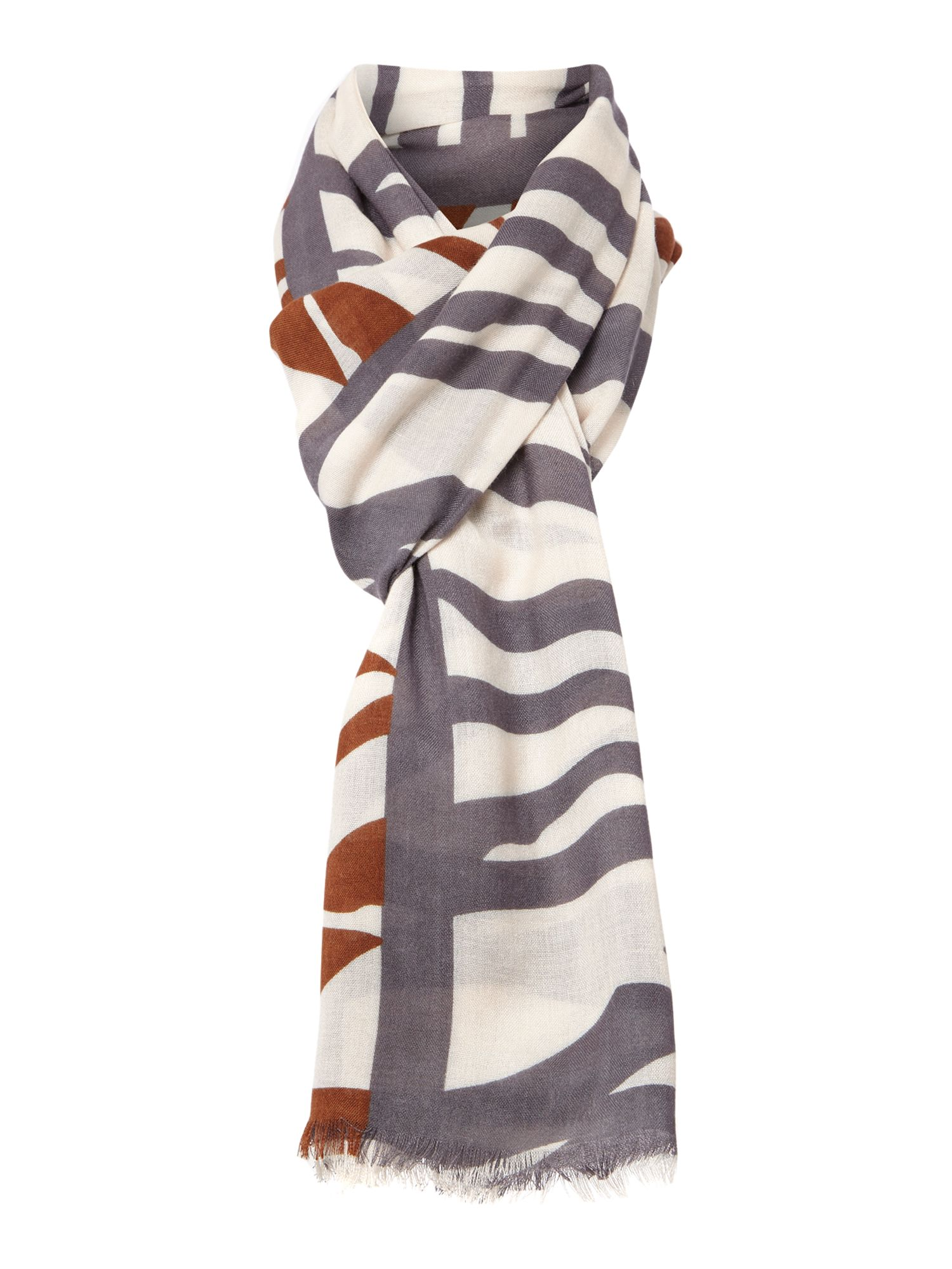 Zebra colour block scarf