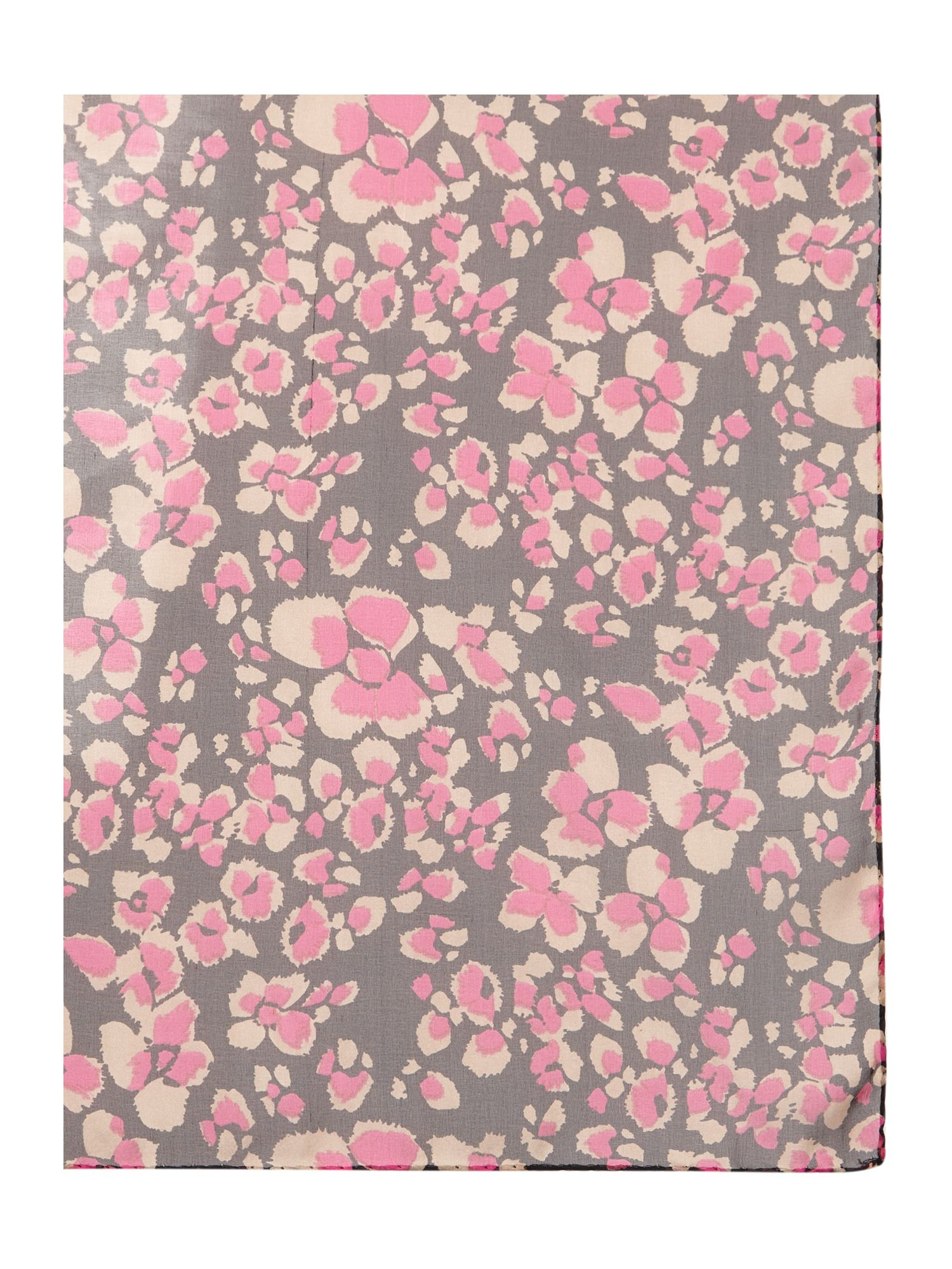Poppy print silk square scarf