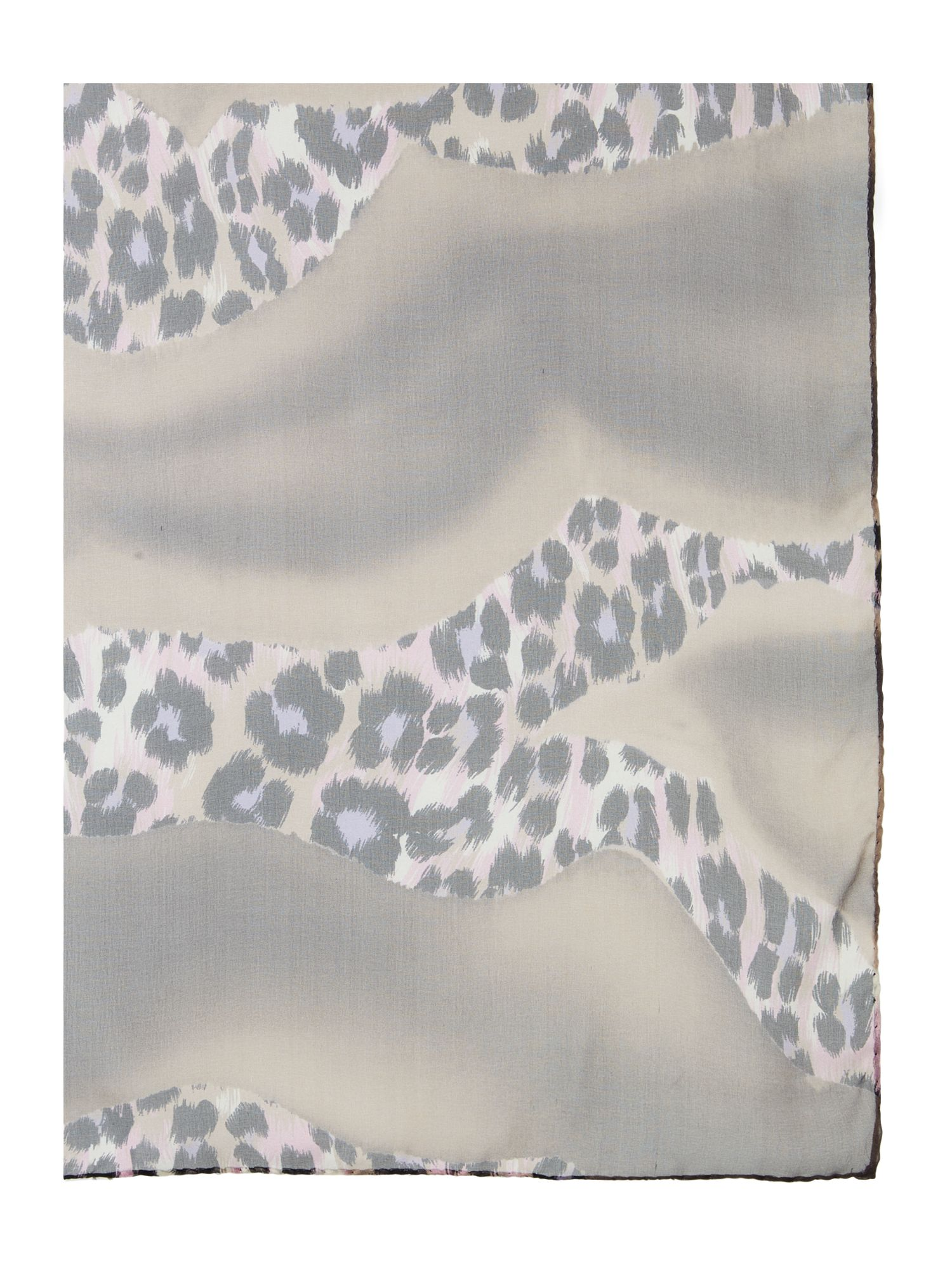 Animal swirl print silk square scarf