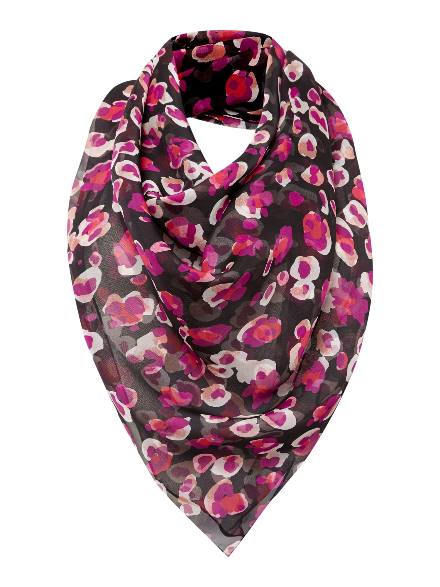 Abstract animal print silk square scarf