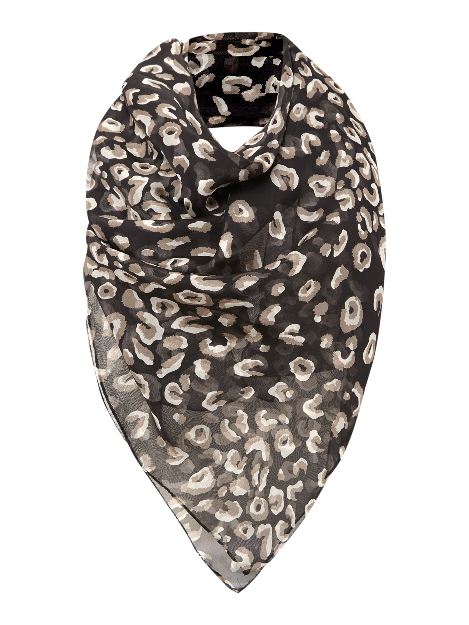 Small animal print silk square scarf