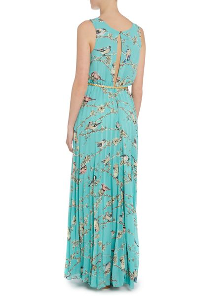 Louche Print Maxi Dress with Belt