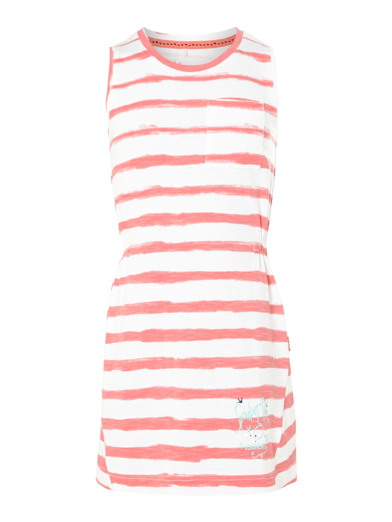 Girls vest dress with faded stripe