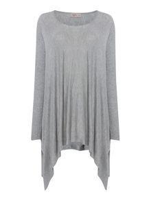 Oversized rib sleeve jumper
