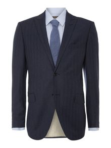 Micheli herringbone flannel suit jacket