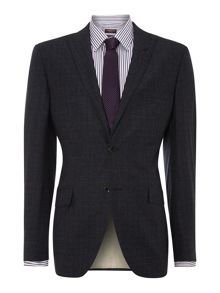 Cadorna peak lapel AMF stitch check suit jacket