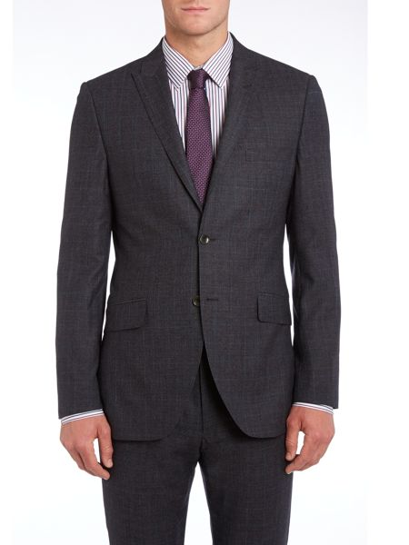 Corsivo Cadorna peak lapel AMF stitch check suit jacket