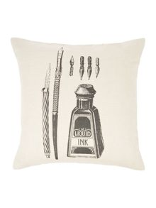 Ink well print design cushion