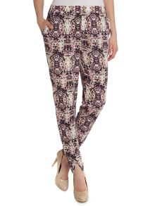 Printed jogger style trousers