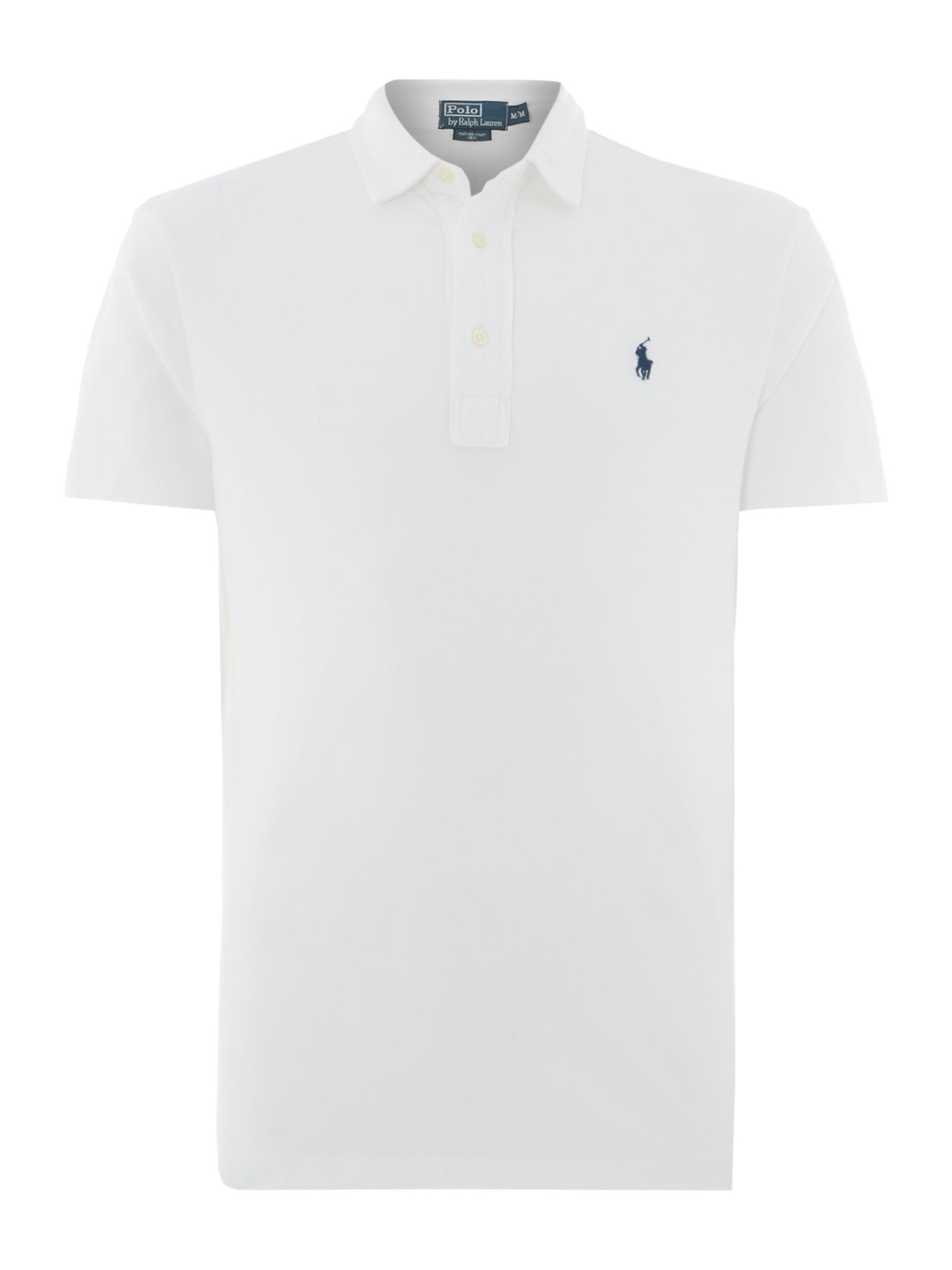 Custom fit washed polo shirt