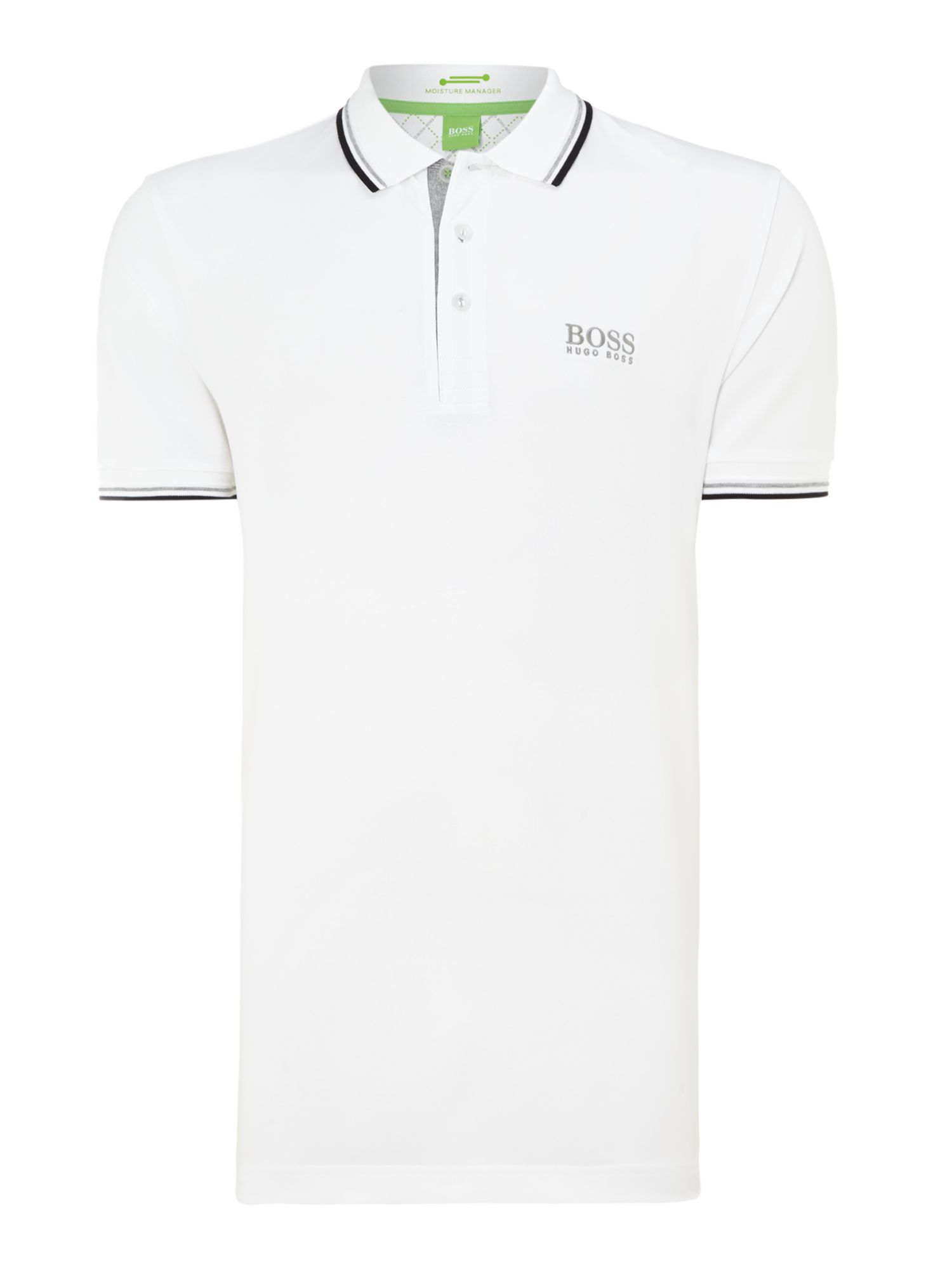 Men&39s Hugo Boss Golf logo polo shirt White