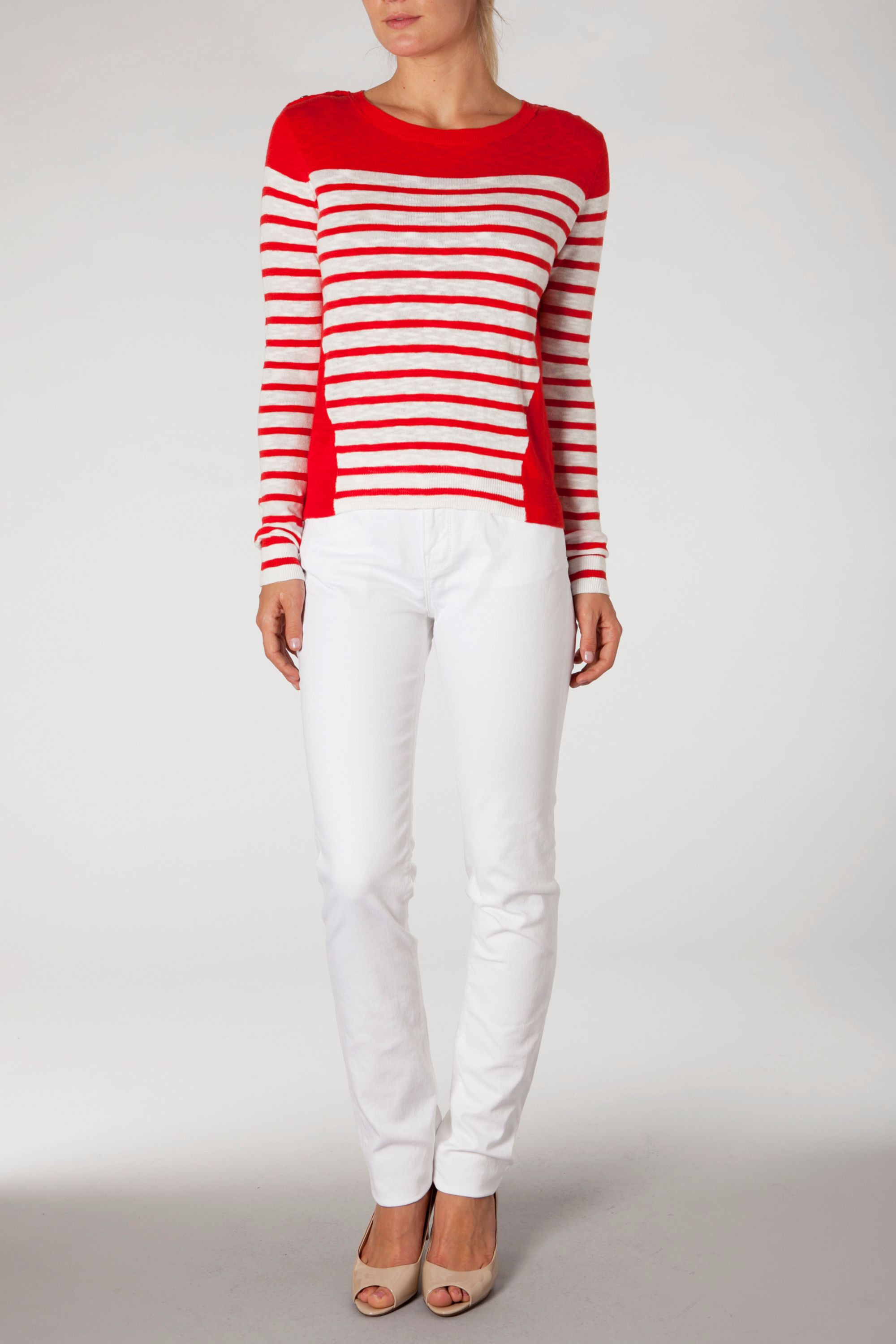 Parisa block stripe jumper