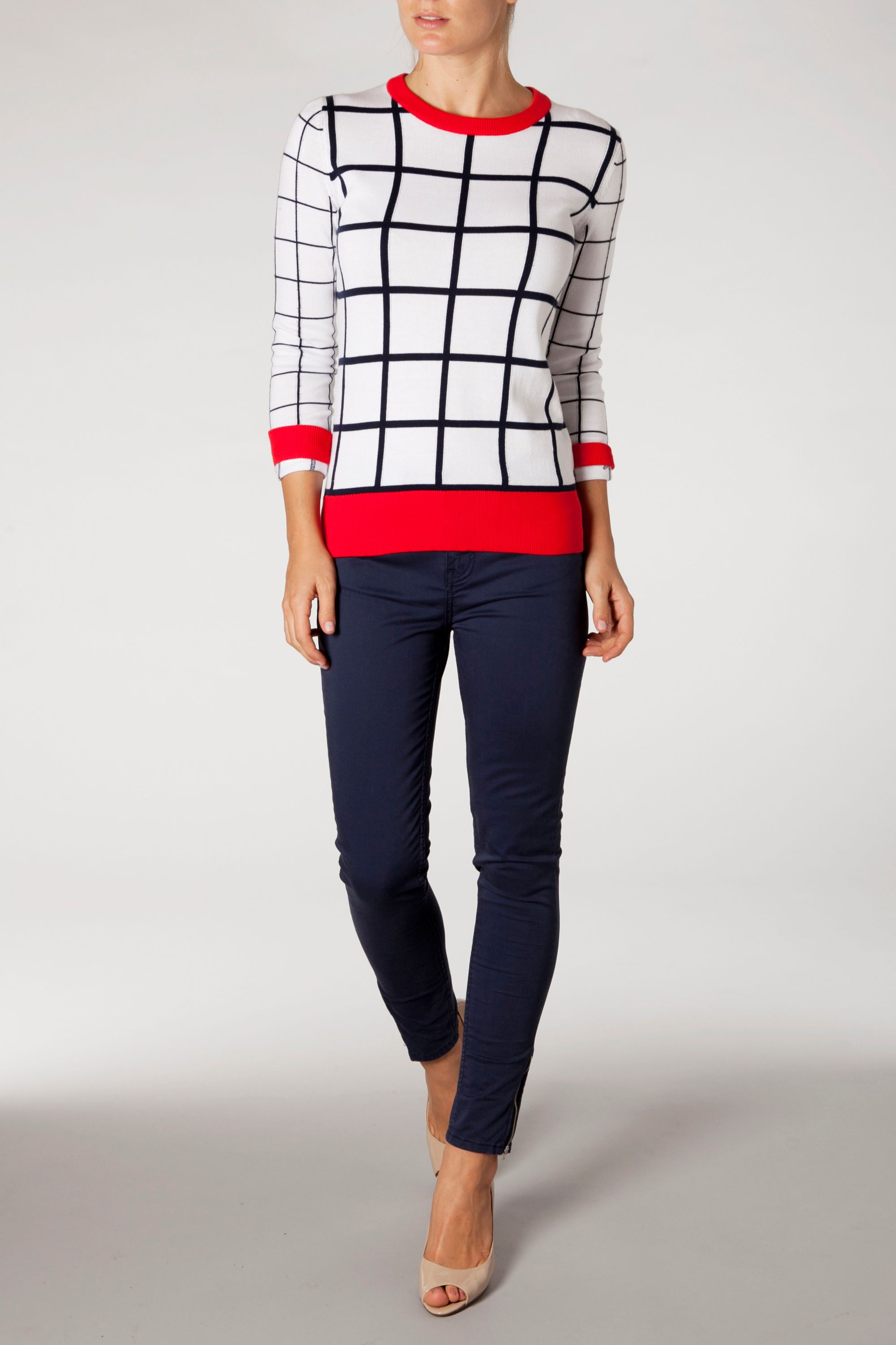 Paitia windowpane check top