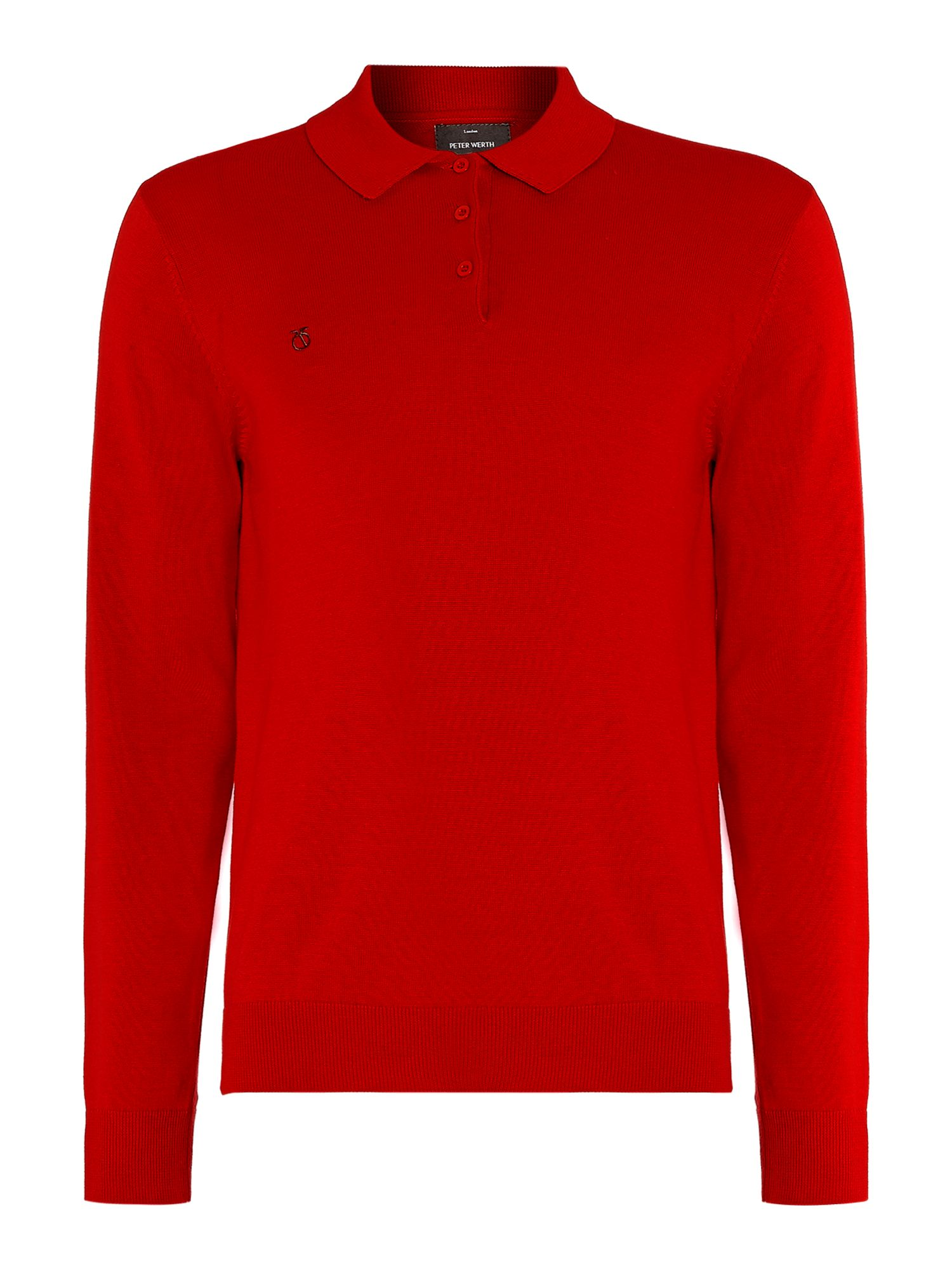 Hemmingford cut knitted polo shirt