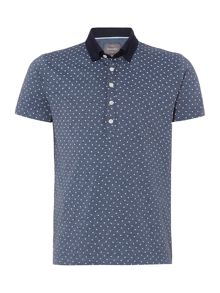 Peter Werth Waring short sleeved floral polo shirt