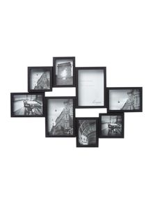Black 8 multi aperture photo frame