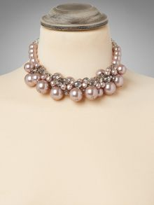 Toria pearl crystal necklace