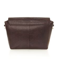 Leather Large carine cross body bag