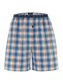 Check woven sleep short