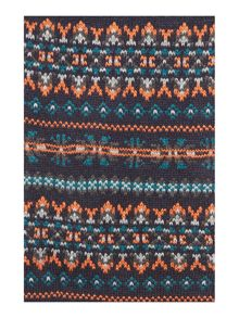 Orange fairisle scarf