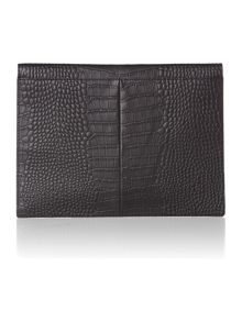 Leather Amelie envelope clutch bag