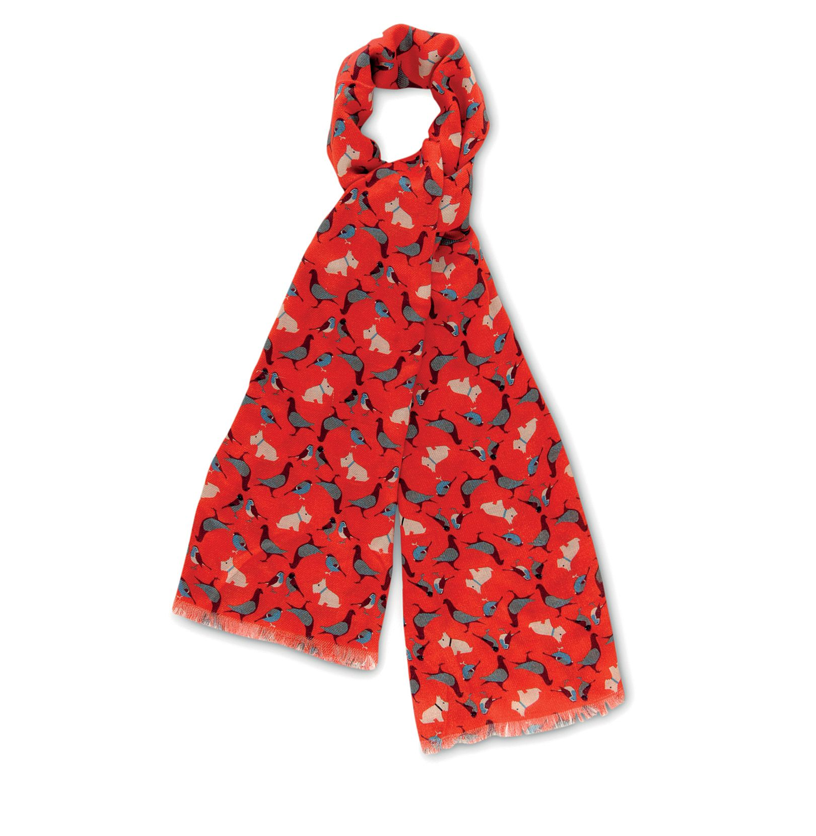A little bird told me long viscose scarf
