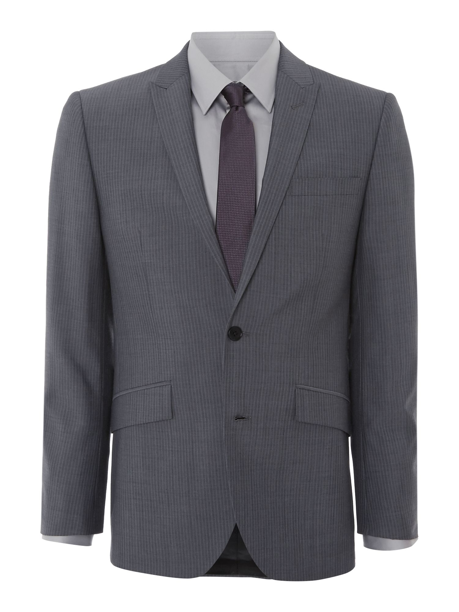 Arion shadow stripe peak lapel suit jacket