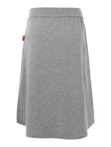 Girls drop back hem skirt