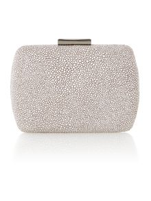 Leather Gabrielle box clutch bag