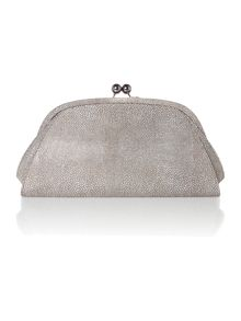 Leather Cecile frame clutch bag