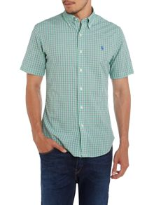 Ralph Lauren Poplin Checked Short Sleeve Shirt