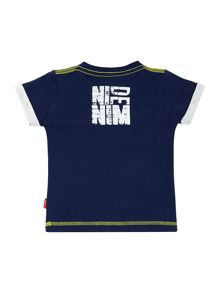 Boys Denim graphic logo t-shirt