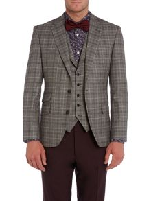 New & Lingwood Newark check flannel notch lapel blazer