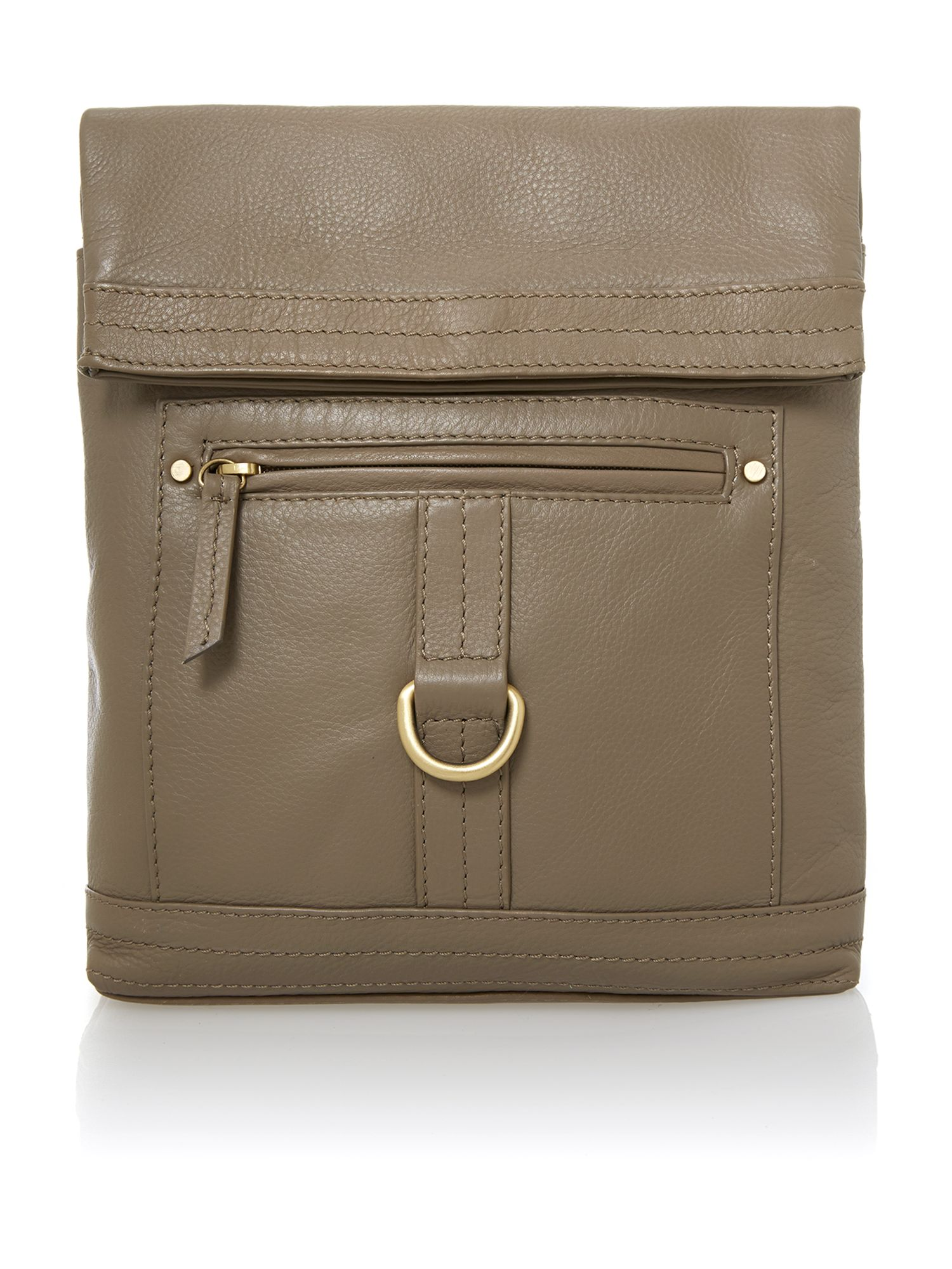 Kendal multi zip messenger handbag