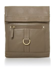 Leather Kendal multi zip messenger handbag