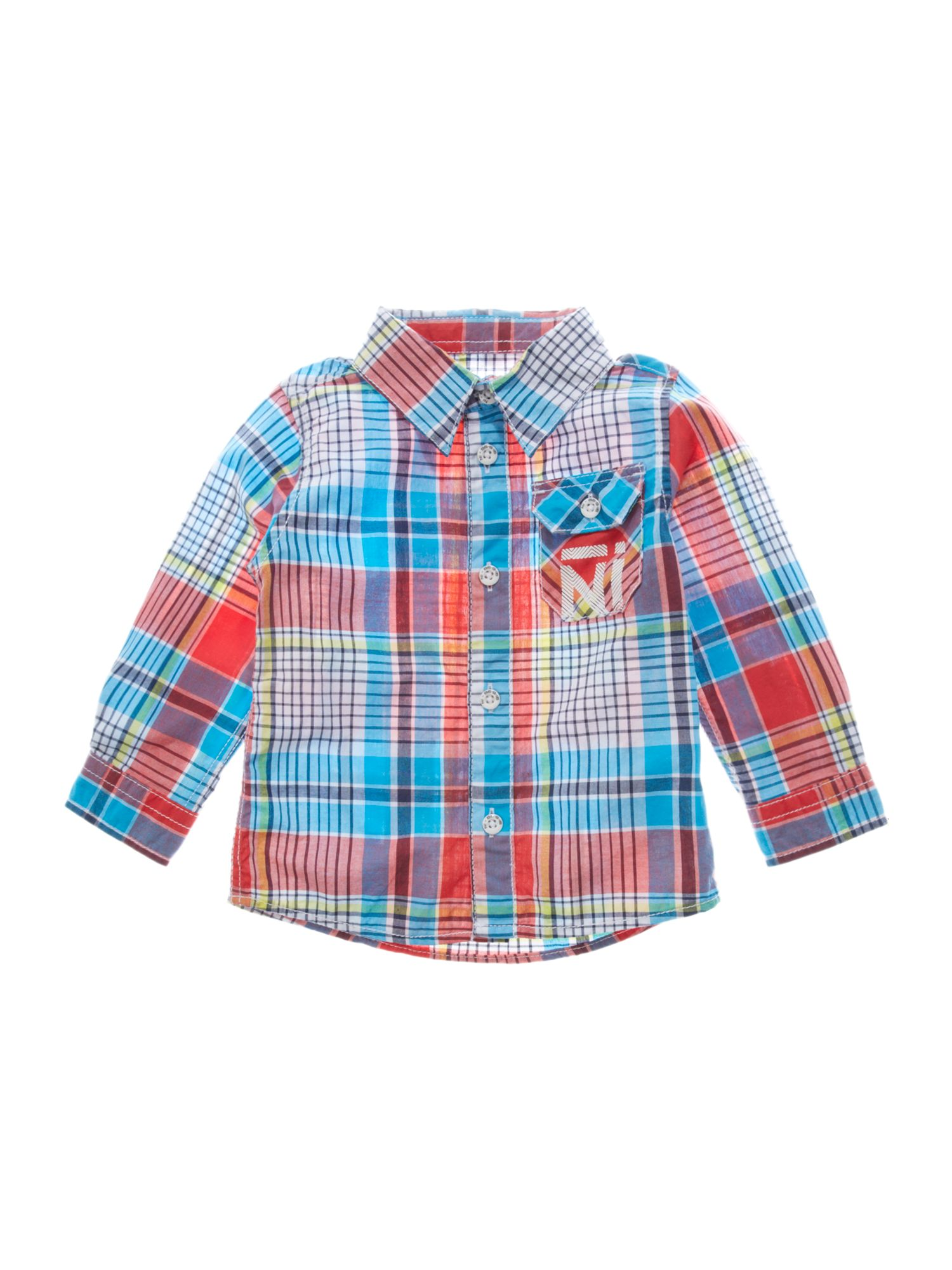 Boys mini check shirt with pocket