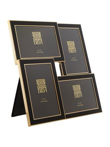 Gold and black multi aperture frame