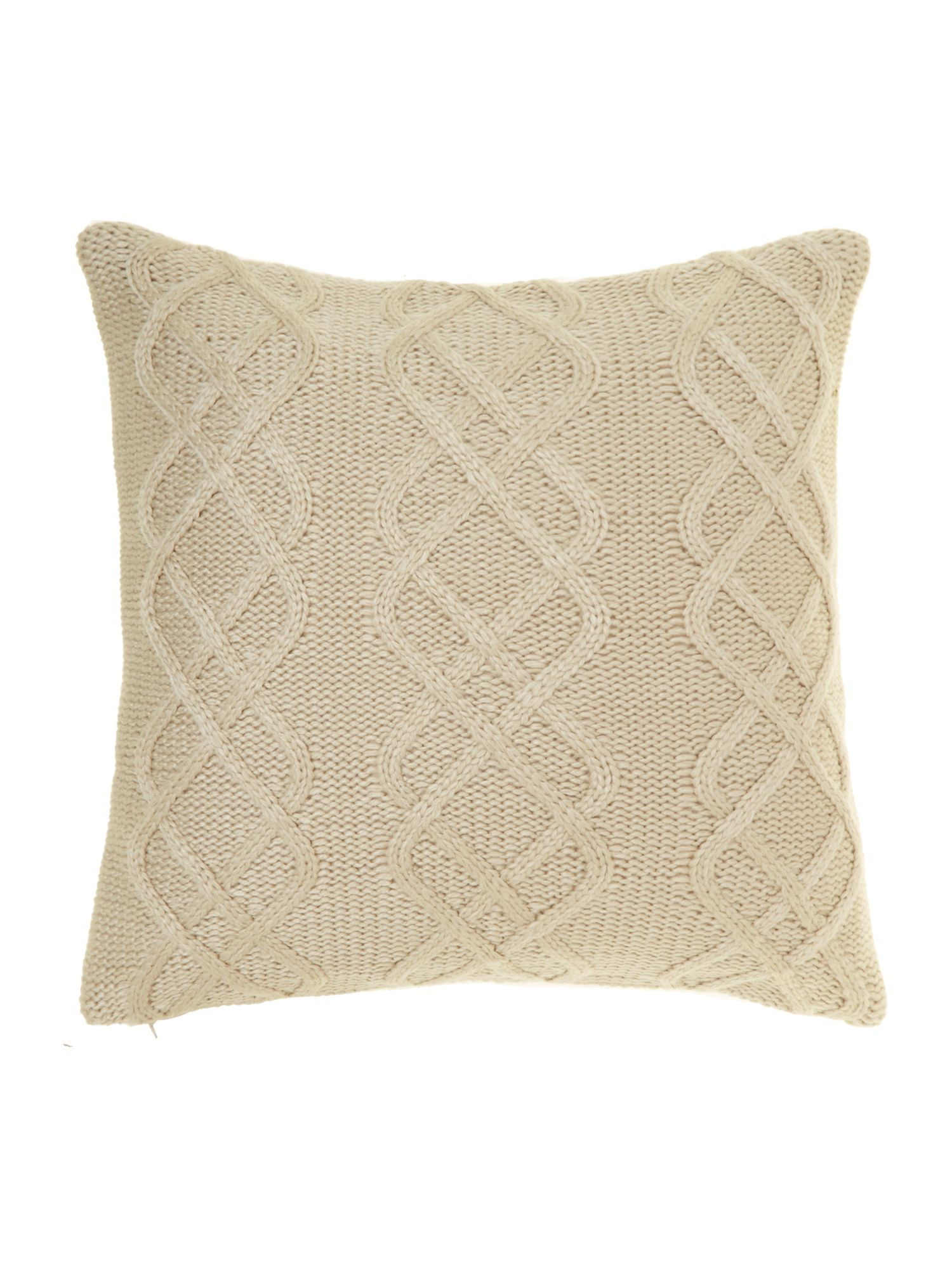 linea chunky knit cushion with buttons cream from house. Black Bedroom Furniture Sets. Home Design Ideas