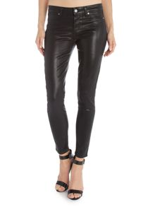 Paige Verdugo Skinny ankle coated jeans in black silk