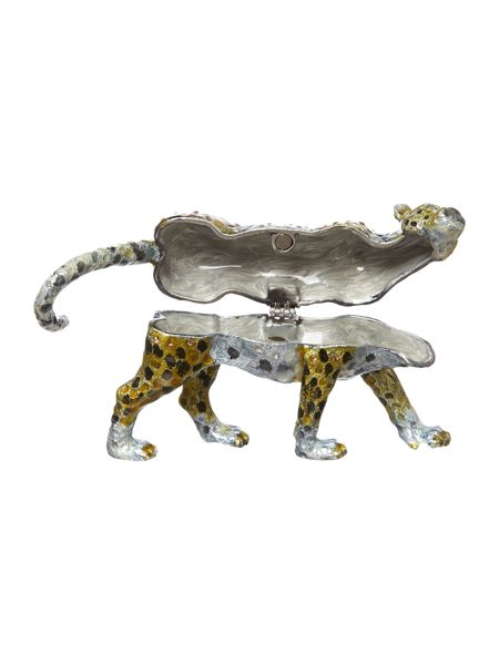 India Jane Leopard jewelled box